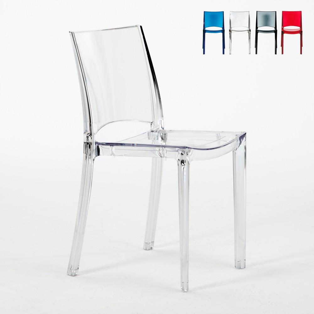 Sedie trasparenti per cucina bar e ristorante impilabile B SIDE Grand Soleil