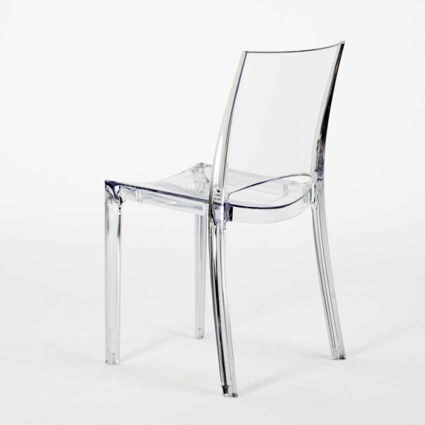 sedia impilabile trasparente per cucina salotto bar b side