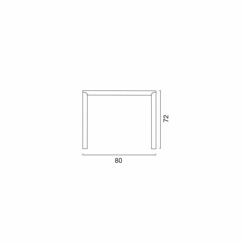 S6945RJ - Tavolo bar Polyrattan esterni 80x80 Grand Soleil OLÈ - beige