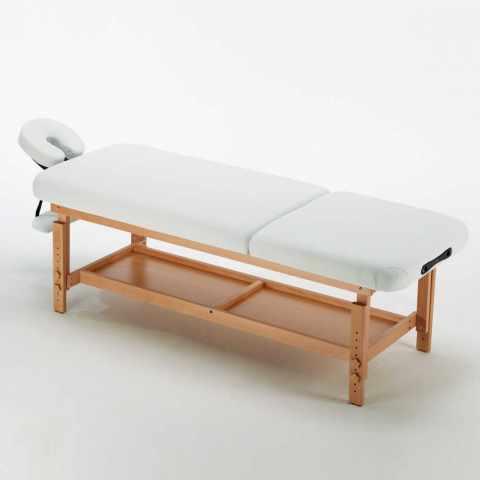 os_038 - Lettino da massaggio in legno fisso II scelta da esposizione
