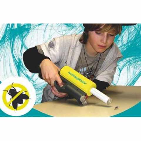 AF100ACE - Pistola aspira cattura insetti ACCHIAPPAFACILE Anti mosche e zanzare - grigio