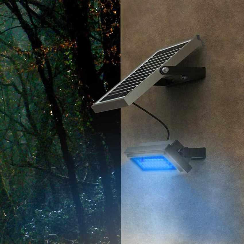 Faro a Muro LED a Energia Solare Multicolore RAINBOW - foto