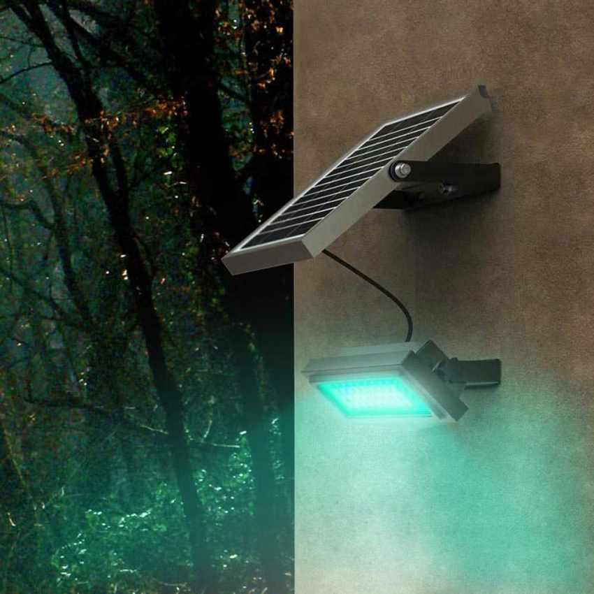 Faro a Muro LED a Energia Solare Multicolore RAINBOW - nuovo