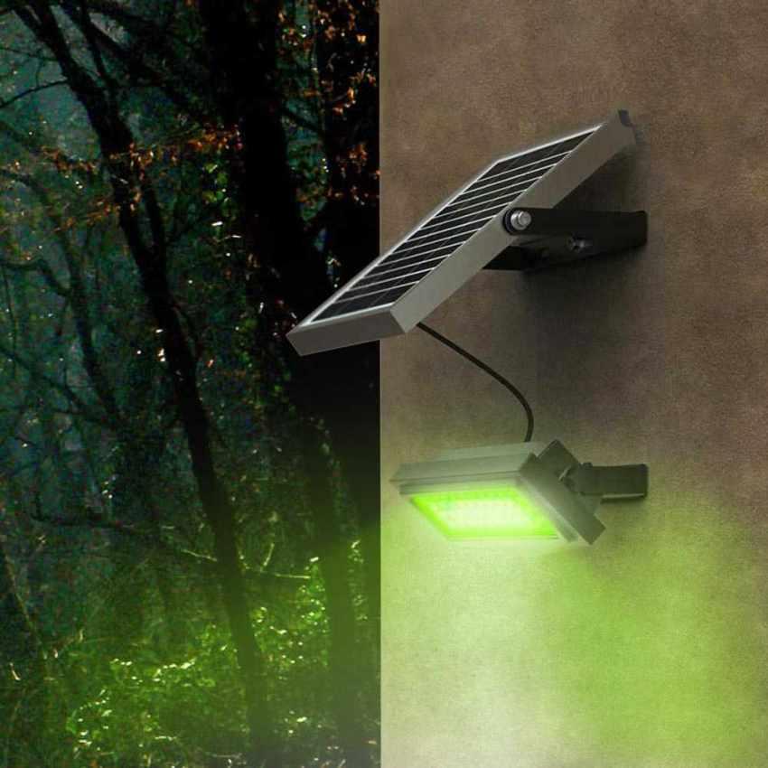 Faro a Muro LED a Energia Solare Multicolore RAINBOW - interno