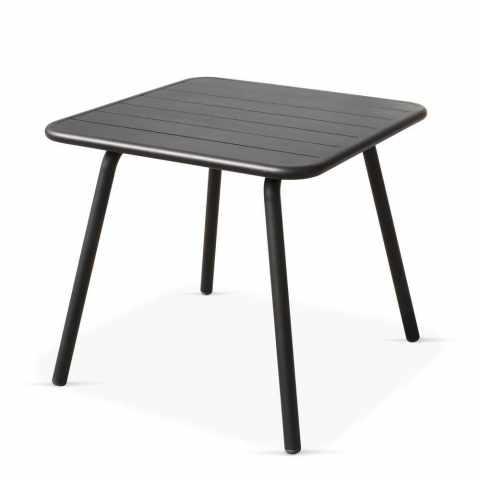 OS_002 - Tavolo da interno quadrato ALLUMINIO - trasparente