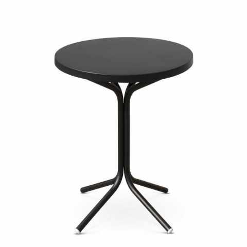 OS_005 - Tavolo da interno rotondo STEEL - marrone