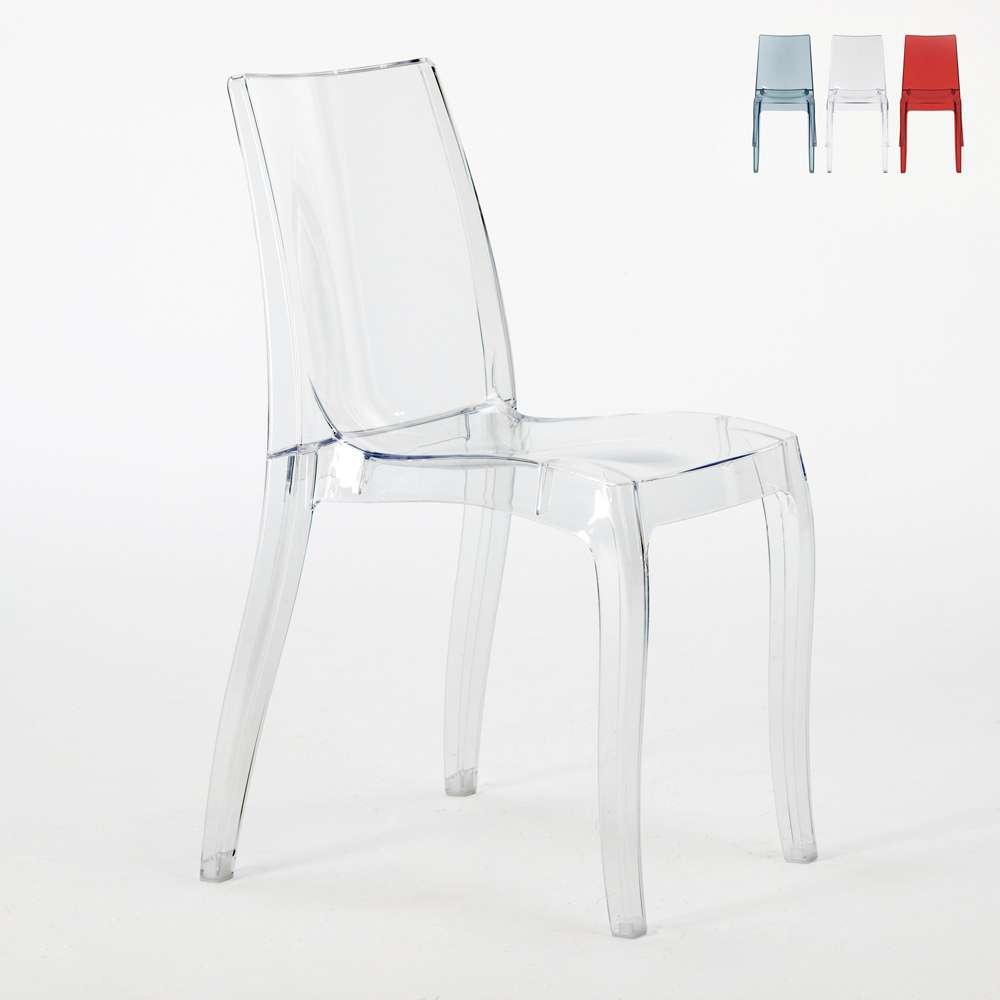 Sedie cucina e bar trasparenti policarbonato impilabile CRISTAL LIGHT Grand Soleil Design