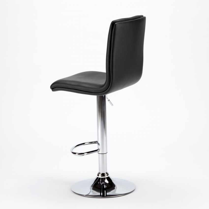 SGA800COL - Sgabello alto da bar e cucina regolabile con schienale COLUMBUS Design - promozione