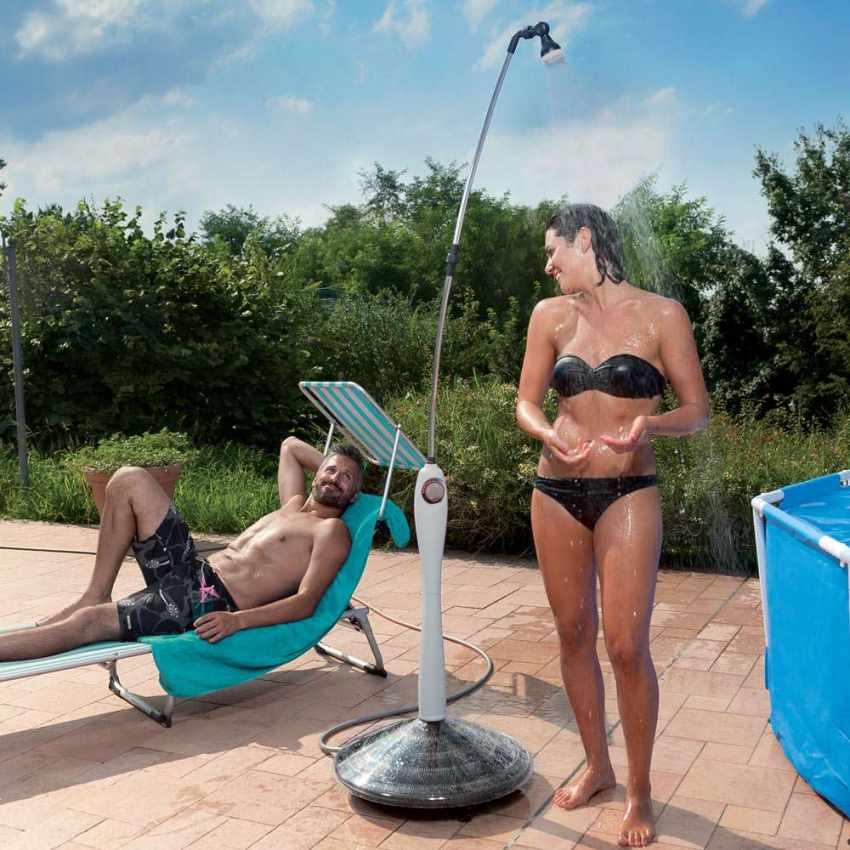 GF8000 - Doccia Solare Riscaldata Portatile per Piscina Giardino SUNNY - rosa