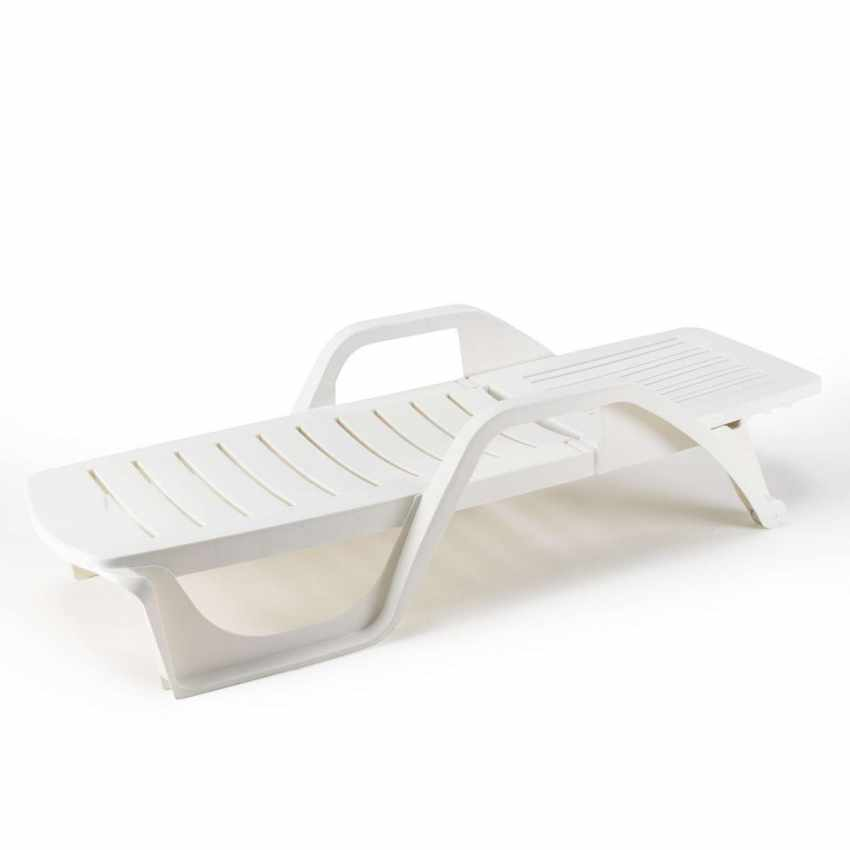 ME100PLA25PZB - Lettini Da Piscina Plastica Professionali Prendisole Offerta Stock 25 Pezzi - fronte