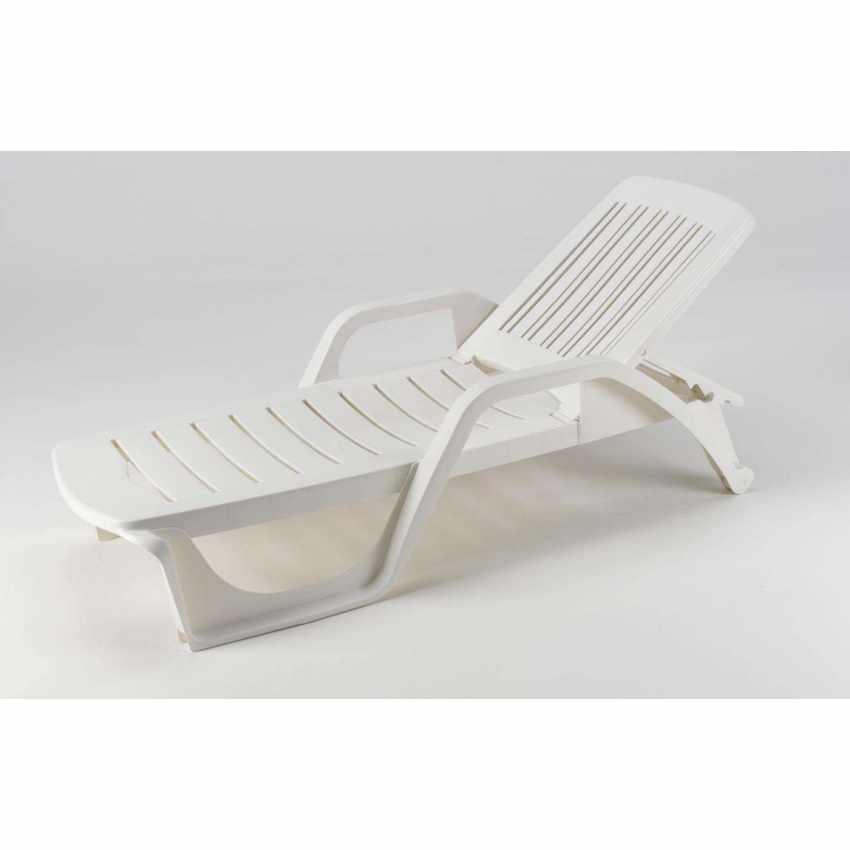 ME100PLA25PZB - Lettini Da Piscina Plastica Professionali Prendisole Offerta Stock 25 Pezzi - grigio