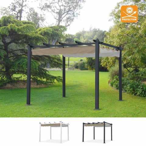 FI300UVABI - Gazebo quadrato 3x3 metri giardino alluminio bar hotel ristorante FIRENZE uv - dettaglio