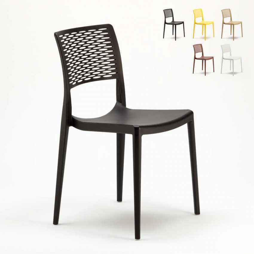 Sedia da bar in polipropilene per cucina e giardino impilabile cross - Sedie per esterno economiche ...