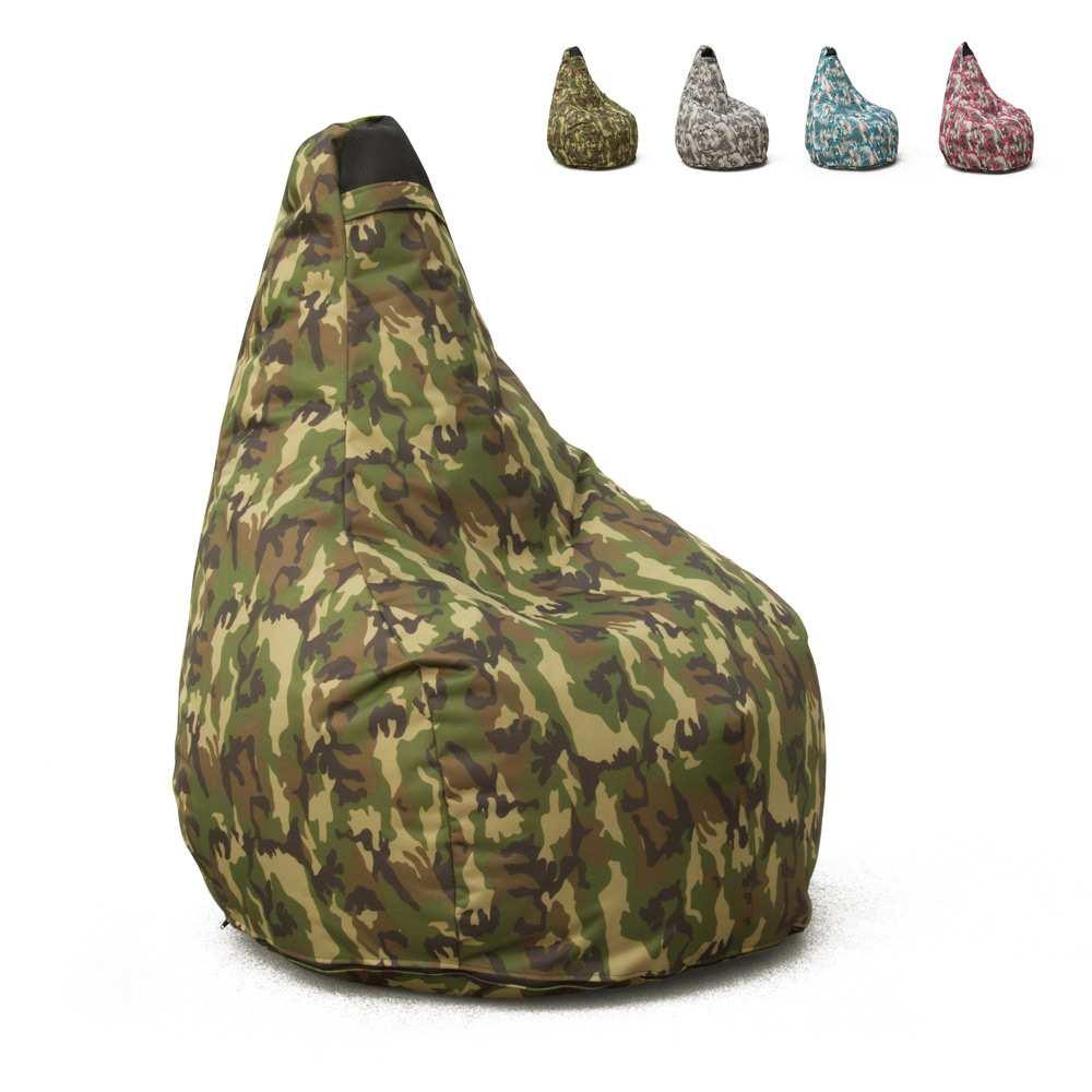 Cuscini Da Esterno Impermeabili pouf poltrona puff sacco a pera per esterni impermeabile mimetico summer  camouflage