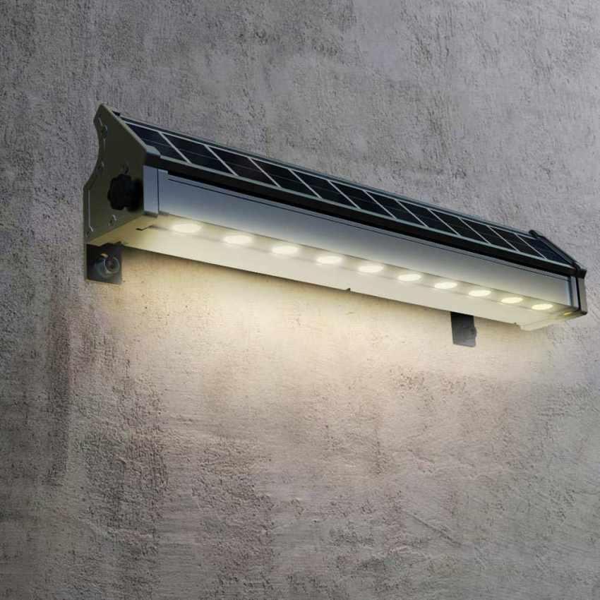 LI010LED - Lampada Solare a luci Led illuminazione per cartelloni pubblicitari e parete BILLBOARD - dettaglio