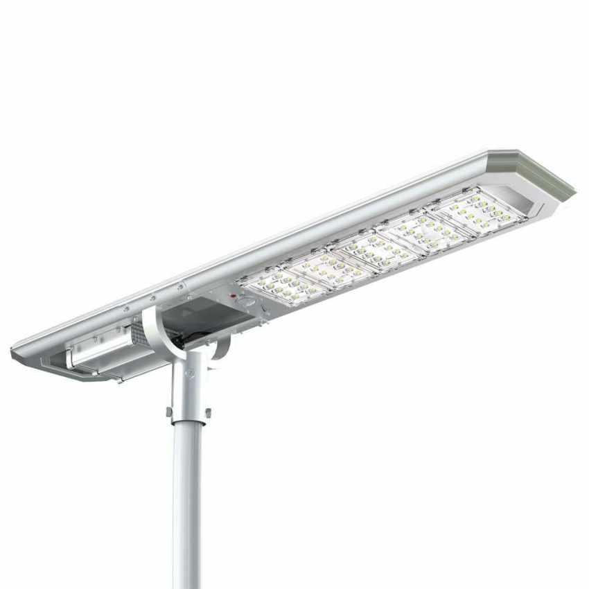 Lampione Solare LED con Pannello Integrato 5000 Lumen per Strade Giardini GOLDRAKE - interno