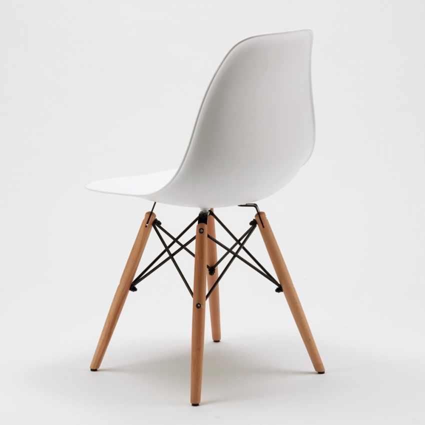Sedia di design per cucina salotto e bar dsw wooden for Sedie design eames