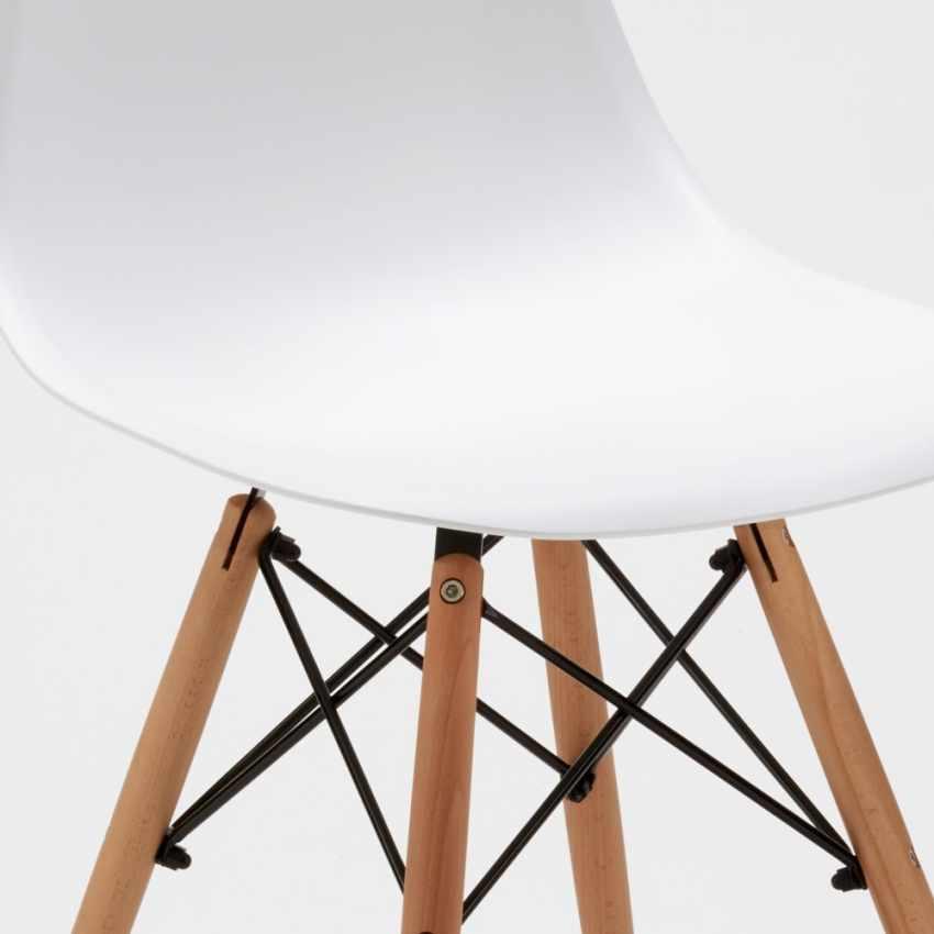 seduta resina sedia dsw eames bianca