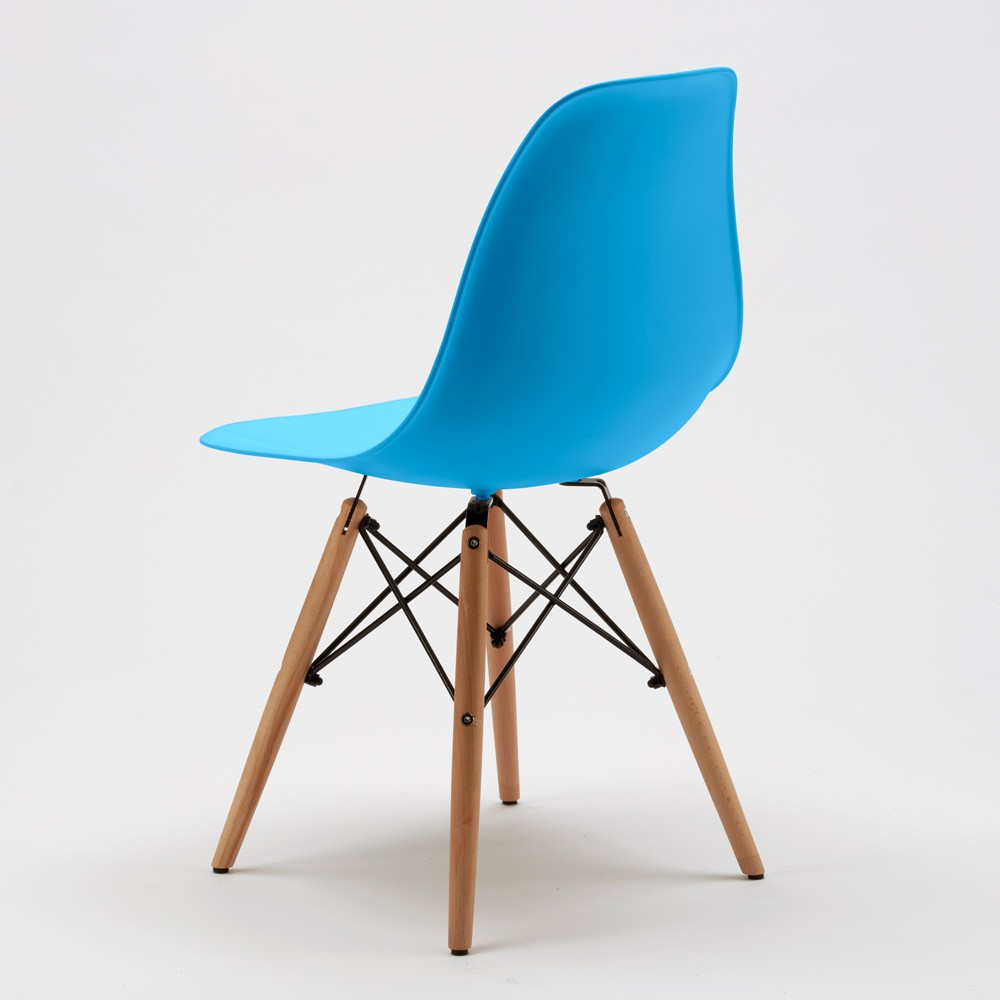Sedie wooden eiffel design cucina bar sala d 39 attesa gambe in legno polipropilene ebay - Sedie in legno design ...