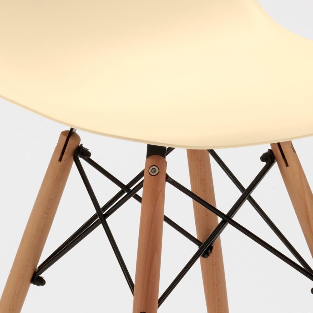 Sedie-WOODEN-Eiffel-Design-cucina-bar-sala-d-039-attesa-gambe-in-legno-polipropilene