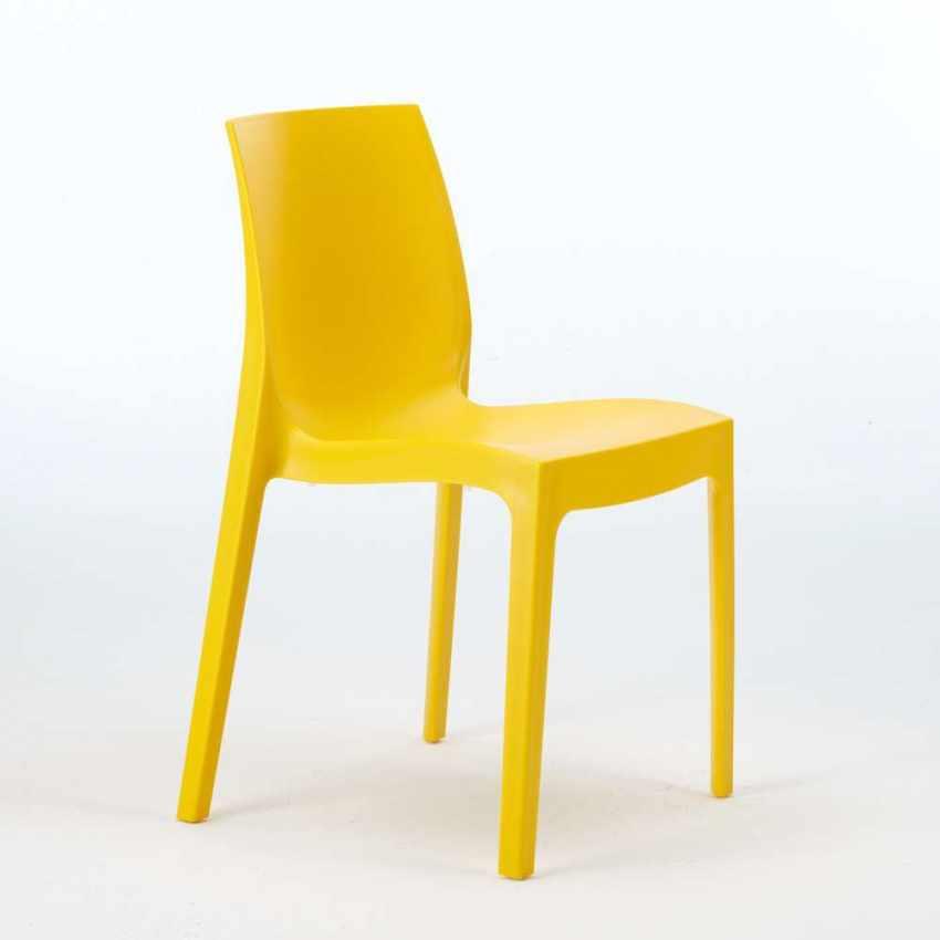 S6217 - Sedie polipropilene impilabile cucina casa bar ROME Grand Soleil - giallo
