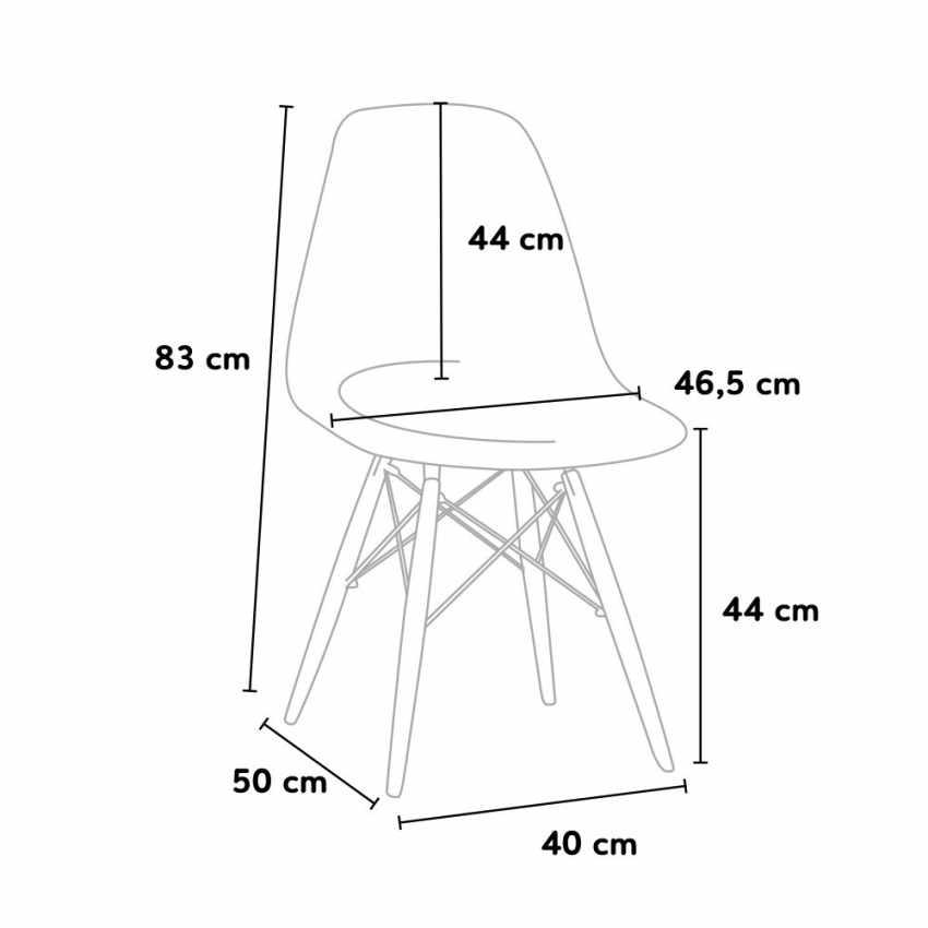 sedia dsw eames bar cucina design misure dimensioni