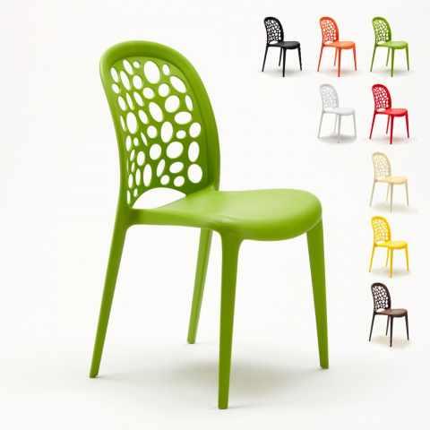 sedia design wedding holes cucina giardino bar verde
