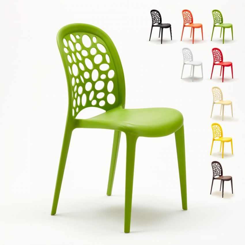 Sedia da cucina e giardino per casa e bar impilabile di design wedding holes messina - Fermatovaglia per tavoli di plastica ...