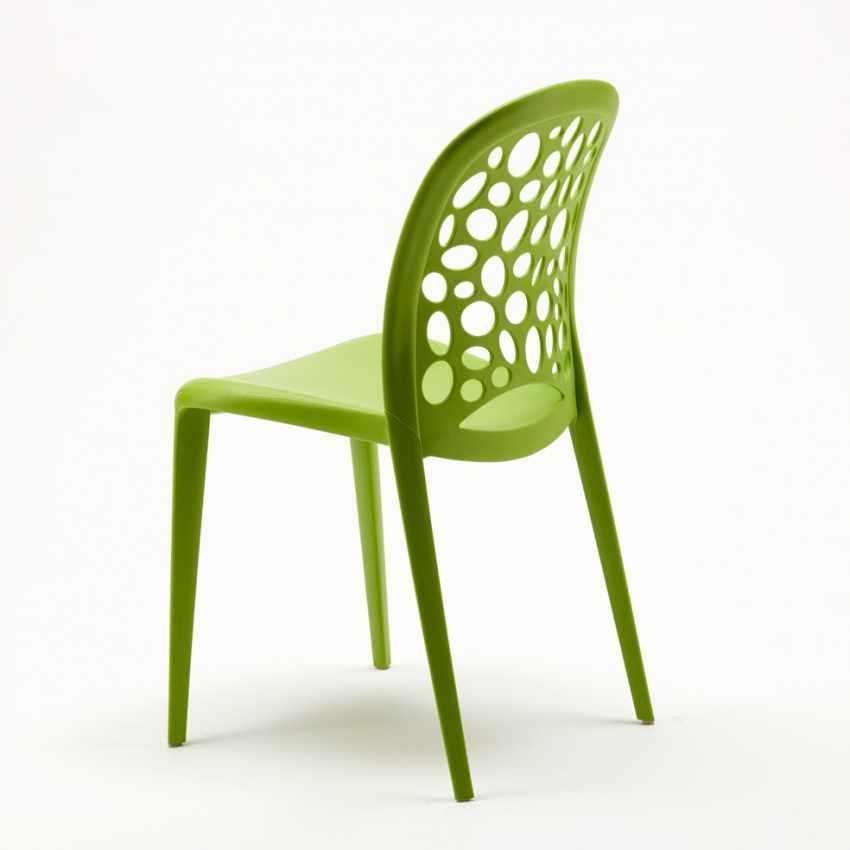Sedia da Cucina e Giardino per Casa e Bar Impilabile di Design ...