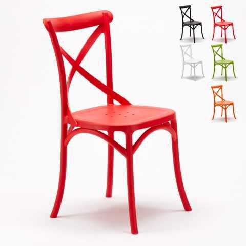 Stock sedie da interno per bar ristoranti ed hotel for Sedie cucina rosse