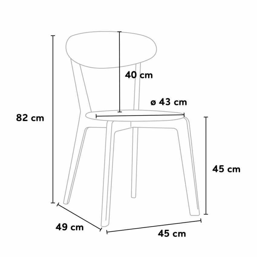 Set di 4 Sedie da Cucina per Bar Ristorante Trattoria CUISINE - immagine