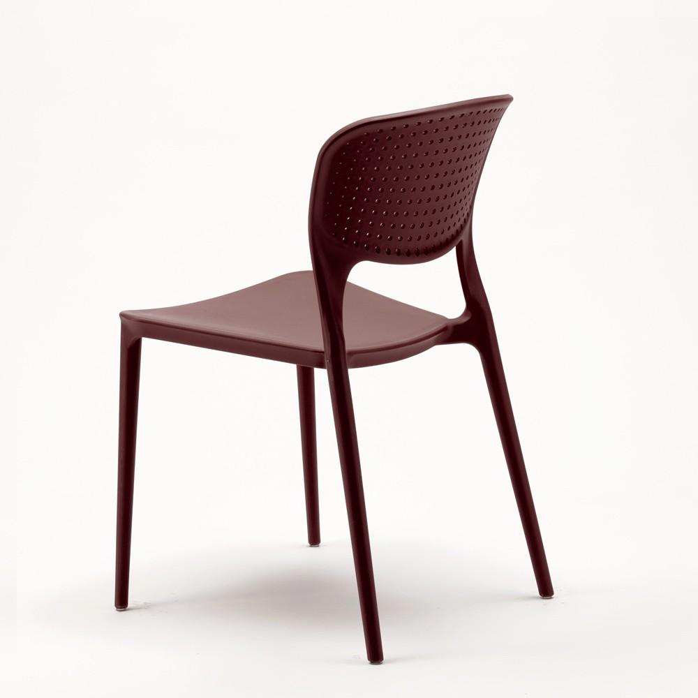 Stock 20 sedie polipropilene colorate impilabile GARDEN ...