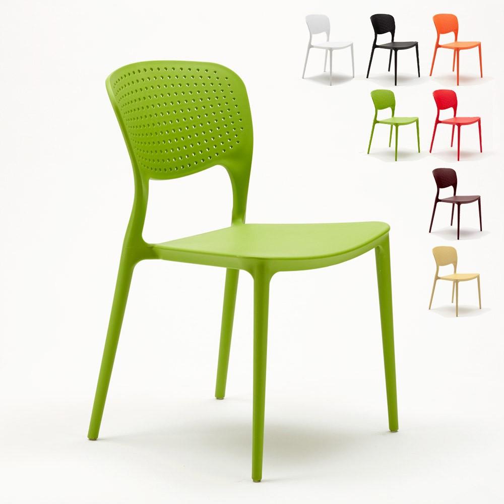 Sedie In Polipropilene Colorate.20 Sedie Di Design Per Bar Ristorante Interni Esterni Garden Giulietta