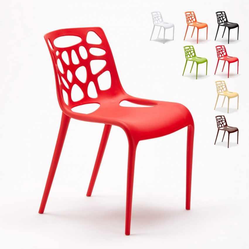 Sedia in Polipropilene per Interni ed Esterni dal Design Moderno GELATERIA - dettaglio