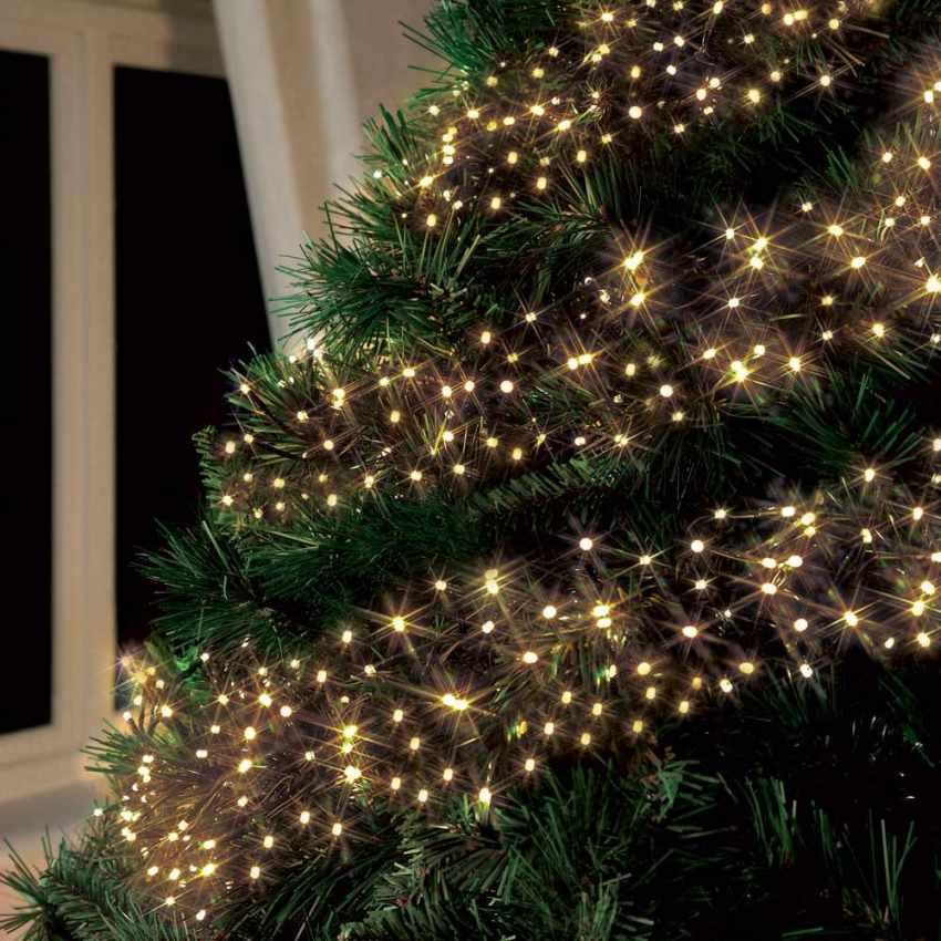 Luci led natalizie da esterno a energia solare for Luci per esterno