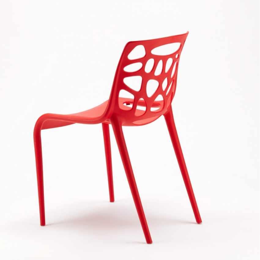 Sedia in Polipropilene per Interni ed Esterni dal Design Moderno GELATERIA - esterno