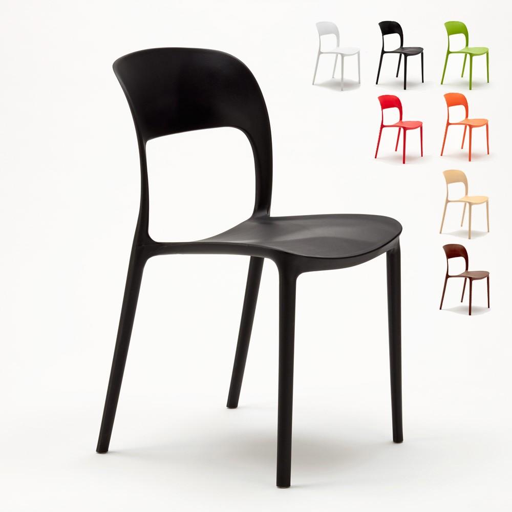 Sedie Di Plastica Colorate.Restaurant Sedie Cucina Casa Bar Ristorante In Polipropilene Design