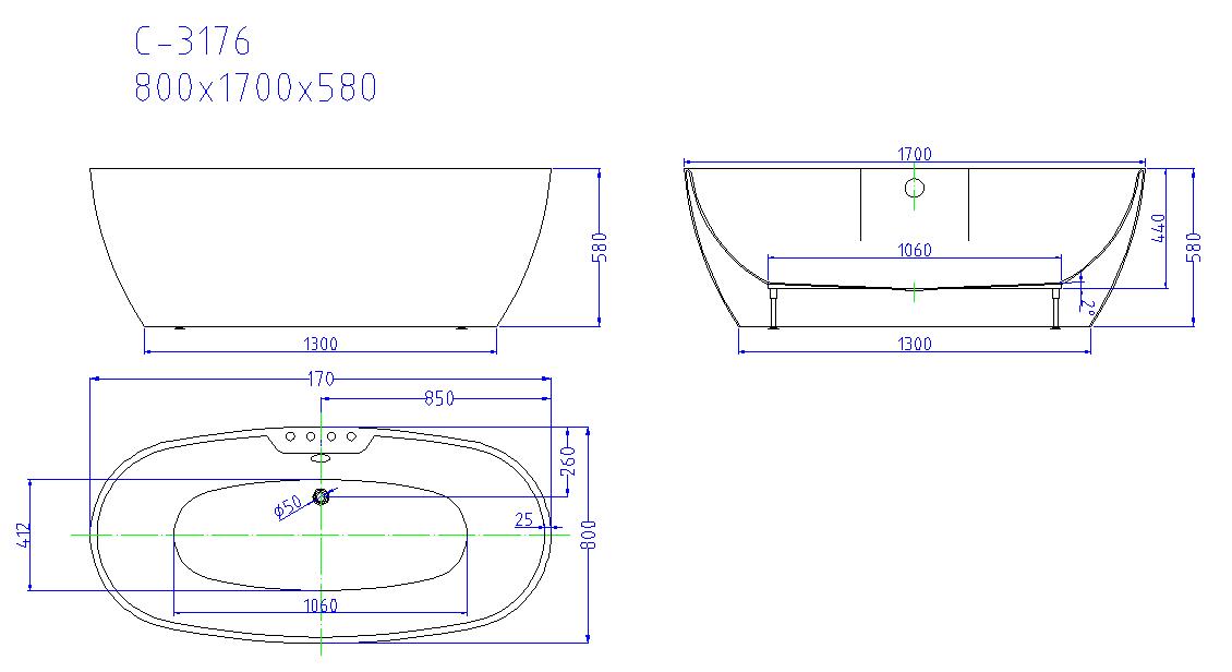 Sezione Vasca Da Bagno.Vasca Da Bagno Freestanding Design In Resina Acrilica E Fiberglass Atmosphere