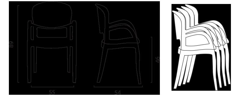 Sedie ergonomica elegante adatta penisola soggiorno bar esclusivo design simile Kartell