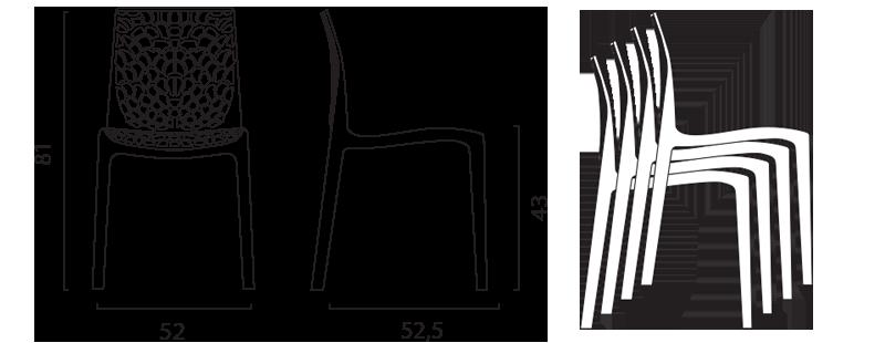 Sillas Gruvyer Marrón plastico cocina cafeteria barra