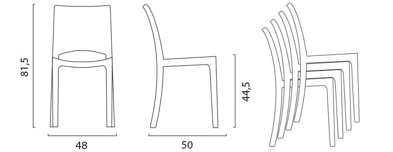 Sedie trasparenti perfette per cucina bar ristoranti moderne design simile Kartell