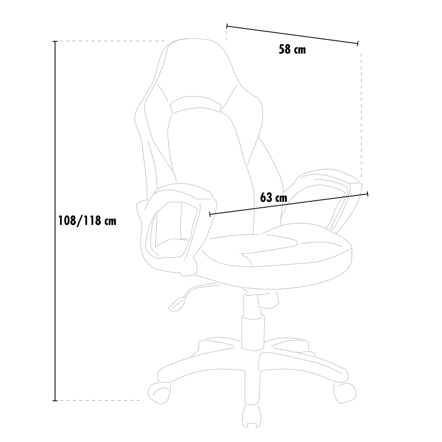 Sportsitz Racing Bürostuhl Kunstleder ergonomischen Stuhl GP
