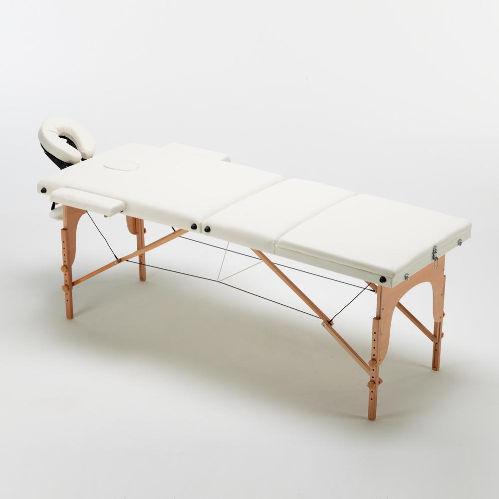 lettino massaggio bianco