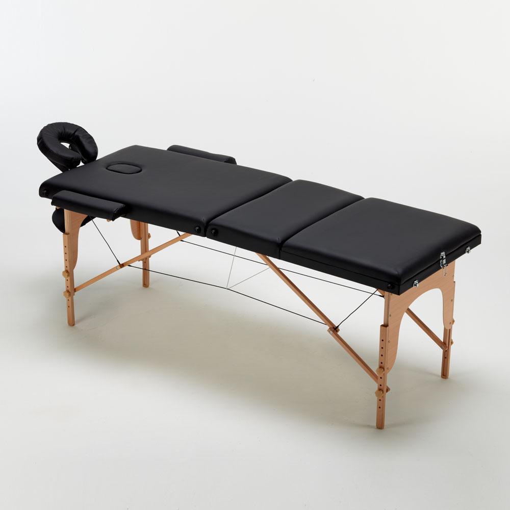 lettino massaggio nero