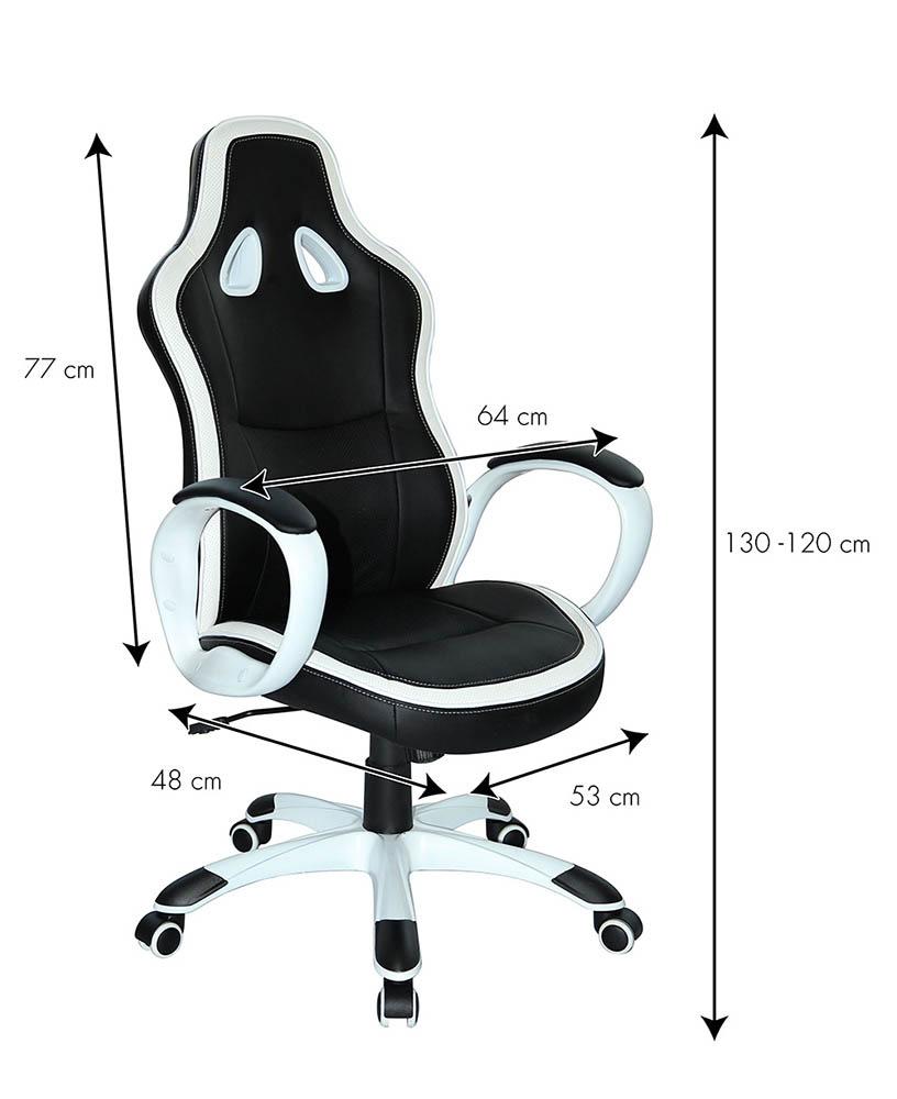 Silla de oficina deportiva sillòn gaming comoda ergonomica racing SUPER SPORT