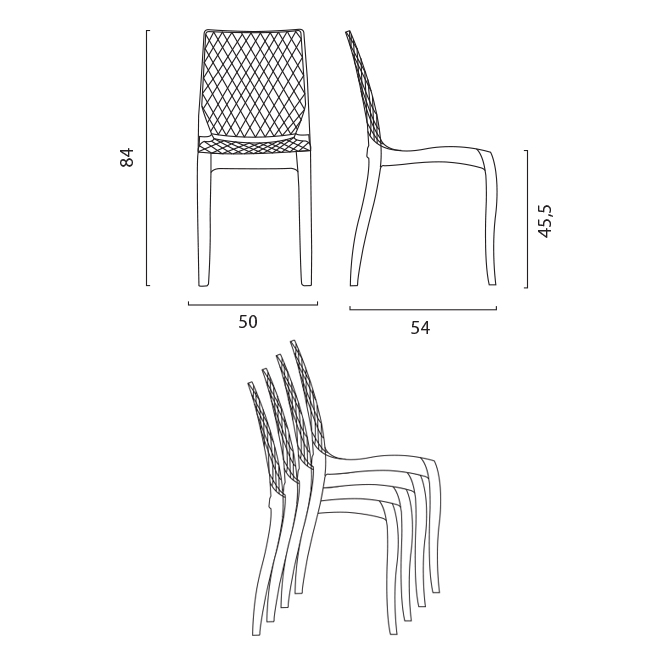 Sedie rosso rubino trasparenti ergonomica in ideale bar casa design simile Kartell