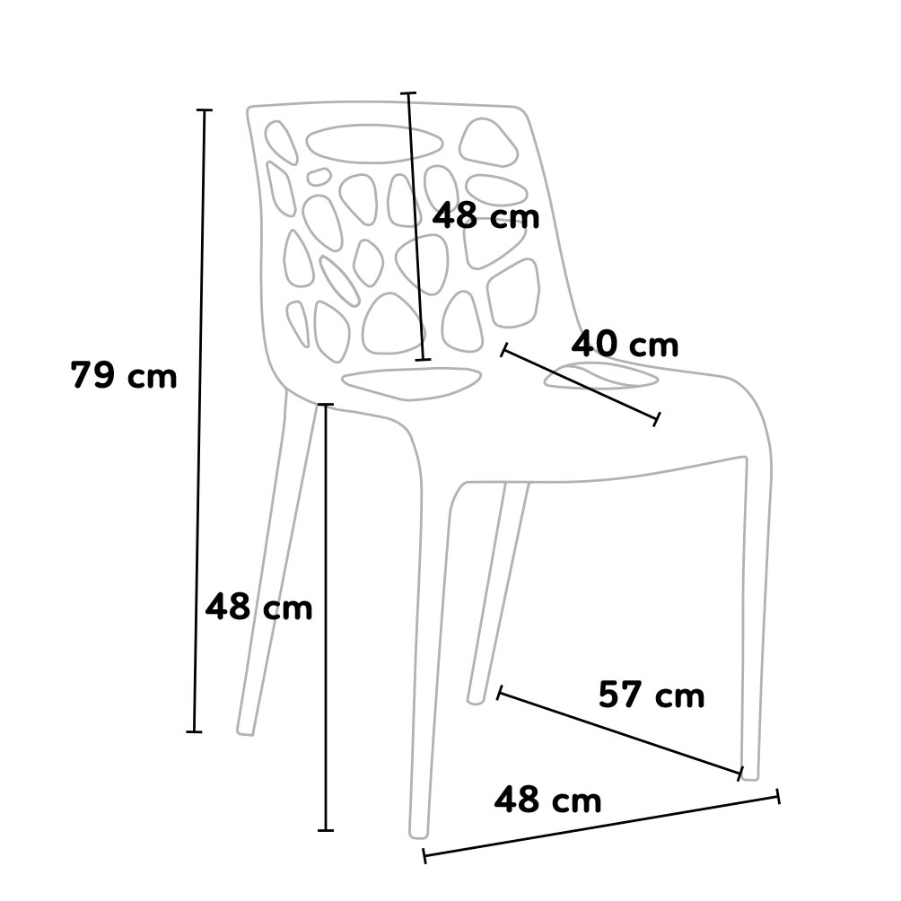 sedie plastica gelateria