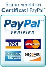 Acquista Online in tutta sicurezza con PayPal. Siamo venditori certificati Anti-frode.