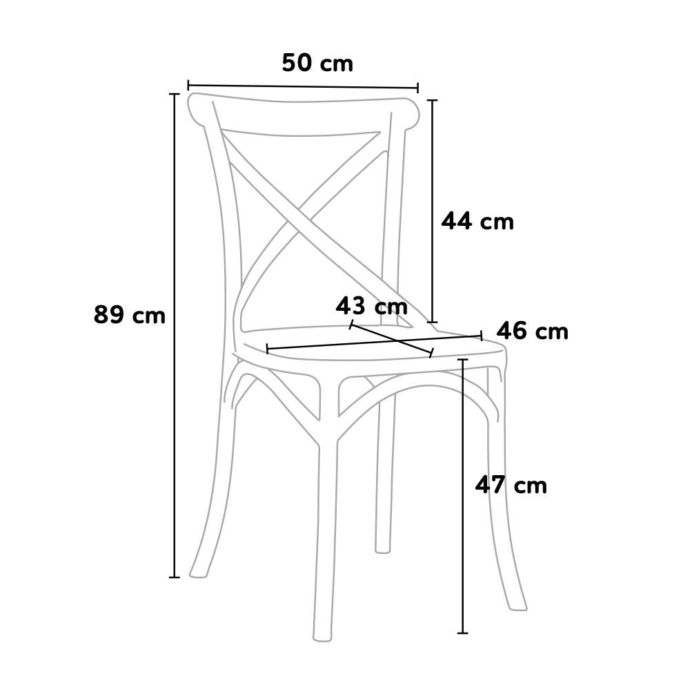 dimensione sedia vintage