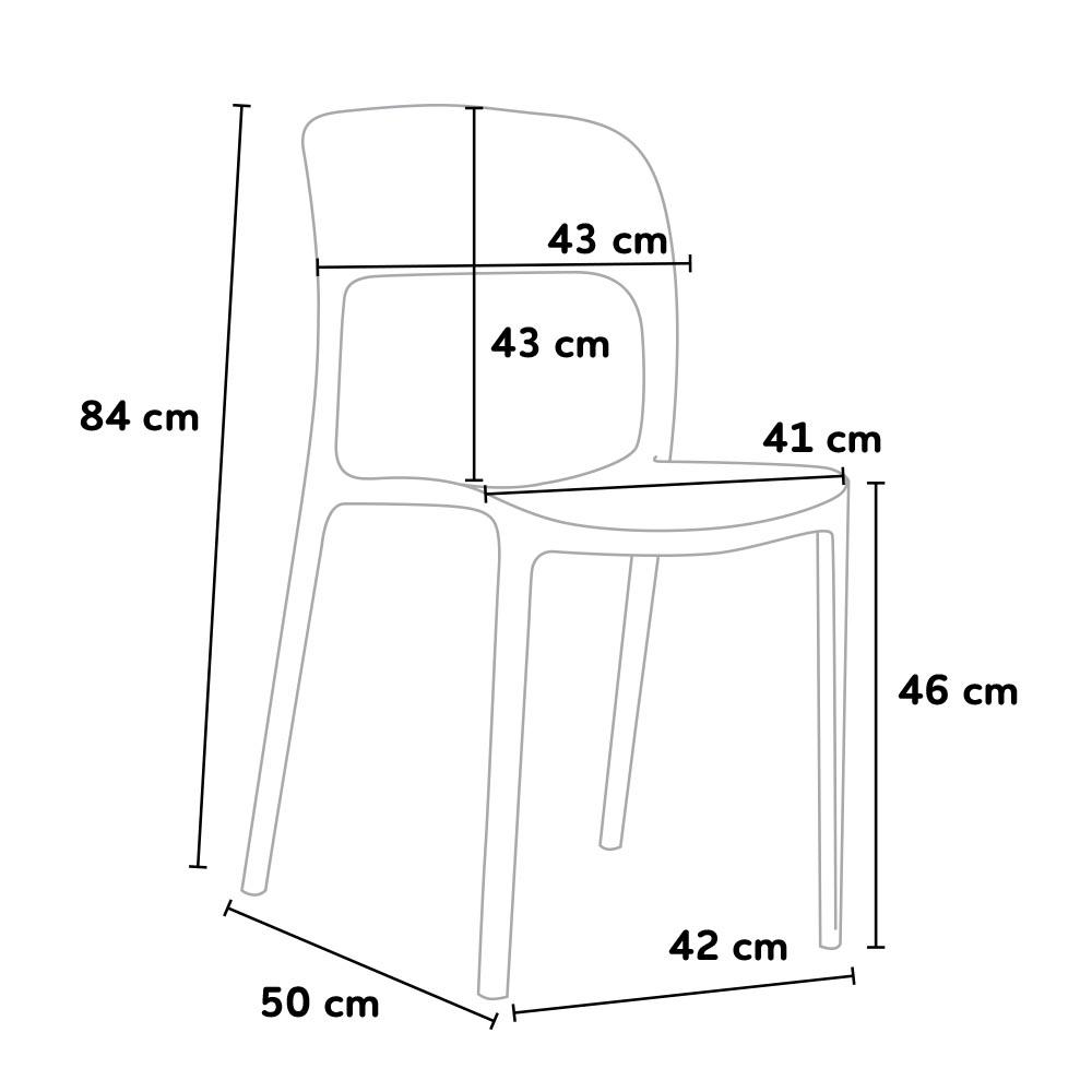 dimensione sedia ristorante